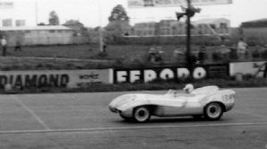 Lotus VIII at speed at Silverstone c.1955